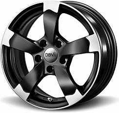 DBV Torino (SMVP) 8x18 5x112 ET40 Leštěné čelní plochy / Černý mat