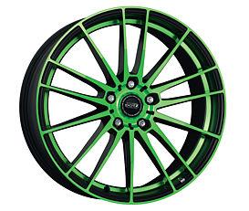 Dotz Fast Fifteen green 8x19 5x108 ET45 Leštěná čelní plocha / Zelený lak / Černý lak